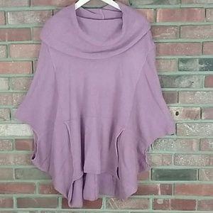 Umgee Poncho Sweater Pink. M